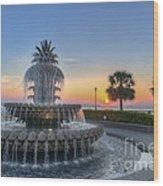 Sunrise In Charleston Wood Print