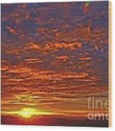 Sunrise In Colombia Wood Print