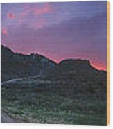 Sunrise In Colorado Wood Print