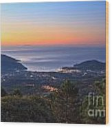 sunrise in Elba island Wood Print