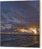Sunrise In Paradise Wood Print