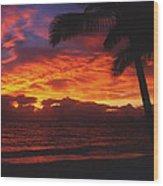 Sunrise In Queensland 2 Wood Print