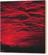 Sunrise In Red Wood Print