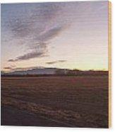 Sunrise In Refuge Wood Print