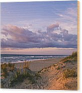Sunrise In Rodanthe Wood Print
