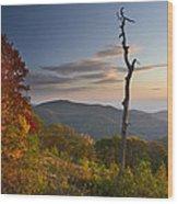Sunrise In Shenandoah National Park Wood Print