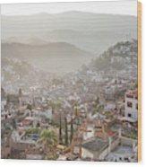 Sunrise In Taxco, Guerrero, Mexico Wood Print