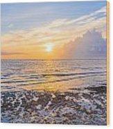 Sunrise In The Atlantic Wood Print