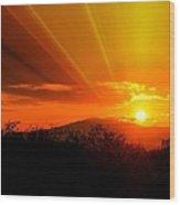 Sunrise From Heaven  Wood Print