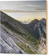 Sunrise In The Pyrenean Catalonia Wood Print