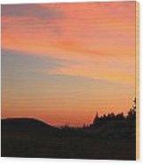 Sunrise In Wyoming Wood Print