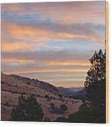 Sunrise - Indian Lodge Wood Print