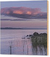 Sunrise Lake Champlain Shore Vermont Clouds Wood Print