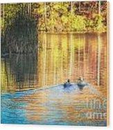 Sunrise Lake Rendezvous Wood Print