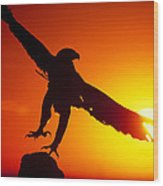 Sunrise Liftoff Golden Eagle Threatened Species Wood Print