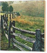 Sunrise Meadow - Blue Ridge Parkway II Wood Print