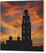 Sunrise Mission Wood Print