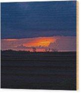 Sunrise N Clouds Wood Print