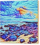 Sunrise Near Poipu Beach Wood Print