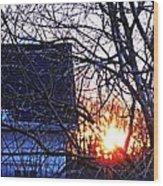 Sunrise Next Door Wood Print
