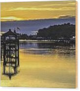 Sunrise Of The Atlantic Icw Wood Print