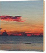 Sunrise On A Cloudy Morn Wood Print