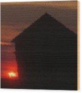 Sunrise On An Old Eastern Montana Homestead  Wood Print