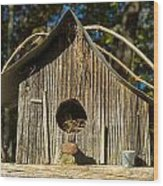 Sunrise On Birdhouse Homestead Wood Print