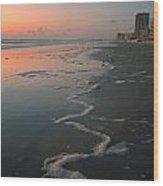 Sunrise On Daytona Wood Print