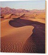 2a6856-sunrise On Death Valley Wood Print