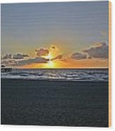 Sunrise On Deerfield Beach Wood Print