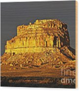 Sunrise On Fajada Butte Wood Print