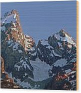 1m9333-h-sunrise On Grand Teton Wood Print