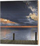 Sunrise On Key Islamorada In The Florida Keys Wood Print