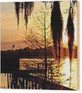 Sunrise On Lake Weir - 7 Wood Print