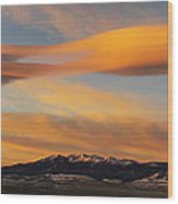 Sunrise On Lenticular Clouds Wood Print