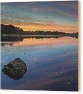 Sunrise On Little River Wood Print