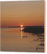 Sunrise On Mackinaw Wood Print
