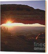 Sunrise On Mesa Arch Wood Print