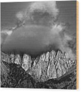 Sunrise On Mount Whitney Eastern Sierras California Wood Print