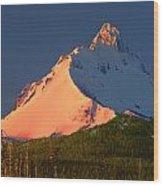1m5306-sunrise On Mt. Washington Wood Print