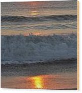 Sunrise On The Atlantic 2 Wood Print