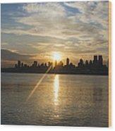 Sunrise On The Big Apple Wood Print