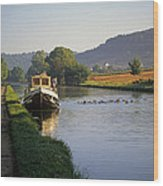 Sunrise On The Burgundy Canal Wood Print