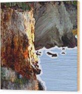 Sunrise On The Cliff Wood Print