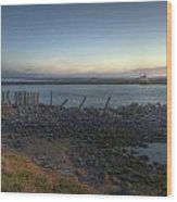 Sunrise On The Coquille River Wood Print