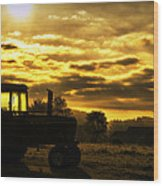 Sunrise On The Deere Wood Print