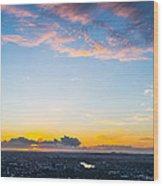Sunrise On The Horizon Wood Print