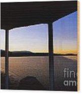 Sunrise On The Hudson Wood Print