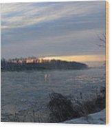 Sunrise On The Missouri River Wood Print